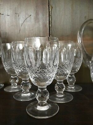 Set Of 5 Waterford Crystal Colleen Sherry Glasses.