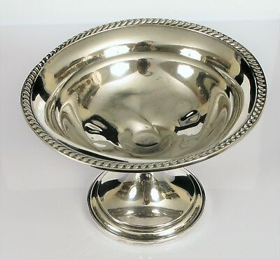 "Antique Watson Sterling Co Compote Candy Dish Change Bowl 5"" Diameter Weighted"