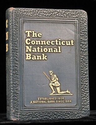 Antique 1923 Stealth Book Safe Bankers Utilities Co Connecticut Nnational Bank !