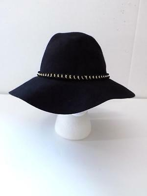 bbf6d0d3c3e August Hat Women s Black Chain Packable Floppy Hat NWT One Size MSRP  58 A1