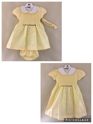 Baby Girls Traditional Spanish Style Smocked Dress Yellow 0 6 12 18 2 3 4 5 6 7