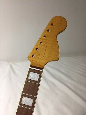 New 2019  CBS Large Neck Replacement neck for Jazzmaster or Strat /(Flame Maple)