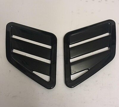 Ford Focus mk3 RS ST style bonnet vents universal vauxhall VXR gloss black ABS