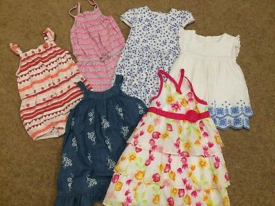 Lovely Summer Bundle Baby Girl Dresses Playsuits 12-18 Months