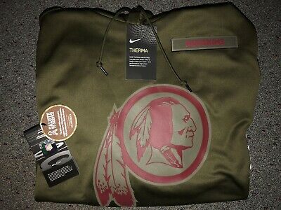 9c71af2ee WASHINGTON REDSKINS Salute to Service Therma Fit Hoodie 2018 Nike Military  STS