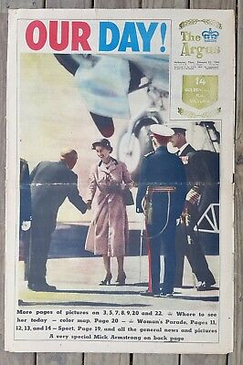 ROYAL VISIT Ed. of THE ARGUS Thurs Feb 25th 1954 Full Paper nice clean copy