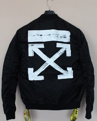 94df5c30465a OFF-WHITE C O VIRGIL Abloh Black Meadow Heights Bomber Varsity ...