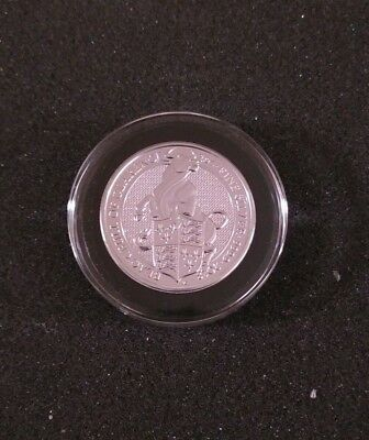 2018 Great Britain 2 oz THE BULL Silver Queen's Beasts with bonus ringed capsule