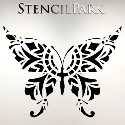 Mandala Butterfly Ornament Art Craft Stencil Walls Furniture A5 A4 A3 239