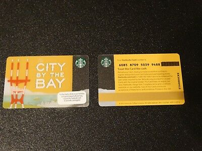 """2013 """"San Francisco City by the Bay"""" Starbucks Card - New & Never Swiped"""