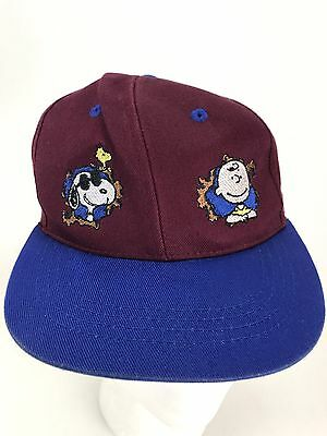 Peanuts Snoopy Charlie Brown Youth Kids Knotts Camp Hat Cap SnapBack f92b89e0483