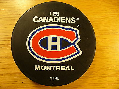 NHL Montreal Canadiens Basic Series Souvenir Team Logo Hockey Puck Collect Pucks