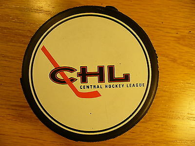 CHL League Official 90's Central Vintage Logo Hockey Puck Check My Other Pucks