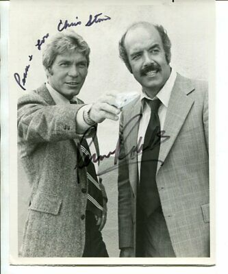 CHRIS STONE & PERNELL ROBERTS signed AUTOGRAPH 5870