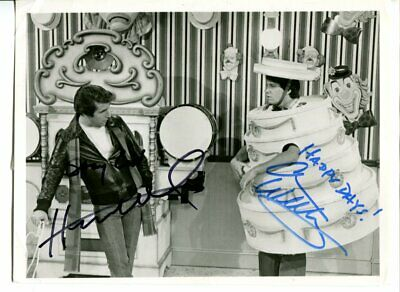 happy days HENRY WINKLER & ANSON WILLIAMS signed AUTOGRAPH 5881