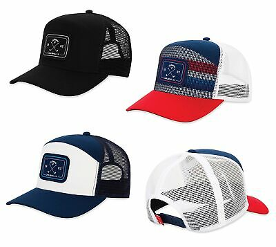 dfa90d790f356 Callaway 6 Panel Trucker Hat Mens Adjustable Golf Cap 2019 - Choose Color