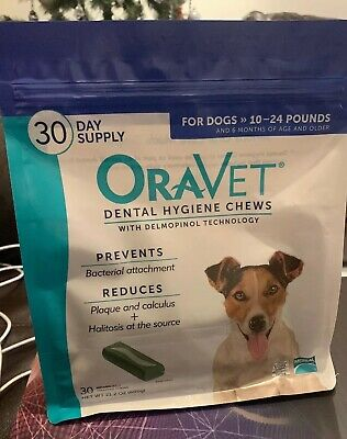 Merial Oravet Dental Hygiene Chew For Dogs 10-24 Lbs Dental Treats For Dogs 30