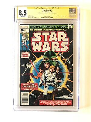 Star Wars #1 1977 CGC 8.5 SS Signed 2x By Tom Palmer, Howard Chaykin