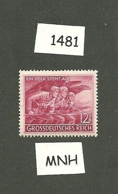 MNH Postage stamp  / 1945 Nazi Issue /  Volkssturm  /  Peoples Army,  Berlin