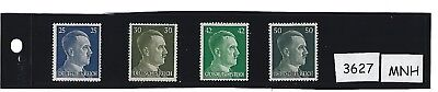 #3627      Small MNH stamp set / Adolph Hitler / Nazi Germany / 1941 Third Reich