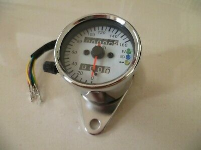 Speedo, 60mm, Warning Lights, Motorcycle, Cafe Racer, Bobber, Tracker, Brat Bike