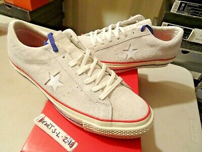 88d97f80e26a63 New Rare Converse One Star Ox X Undefeated White Usa Suede 158893C Sz 13  Supreme