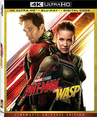 ANT-MAN AND THE WASP (4K Ultra HD Blu-ray Disc, No Digital) W/ SLIP **NEW**