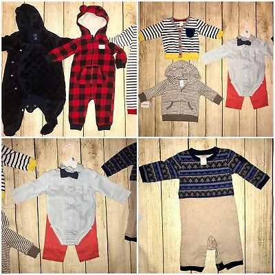 Baby Boy Winter Clothes Bundle Lot 3-6 Months Gymboree And More