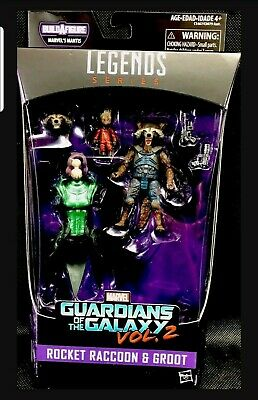Marvel Legends Guardians Of The Galaxy Vol 2 Rocket 🚀 Raccoon And Groot Figures
