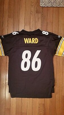 86496ae5dc7 Hines Ward  86 Pittsburgh Steelers Reebok Jersey Size Youth LARGE L 14-16