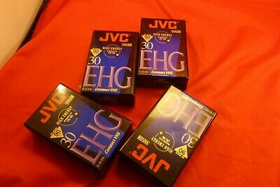 4 JVC Compact VHS  EHG Camcorder Video Tape
