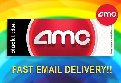 FAST EMAIL DELIVERY! 🔴AMC Theaters Black Movie Tickets (No Exp) 🎥