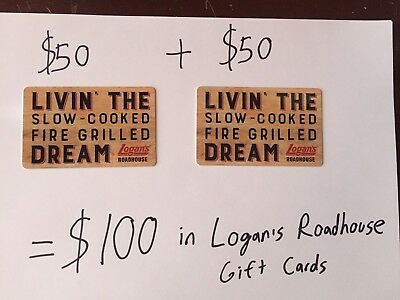 $100 in Logan's Roadhouse gift cards (2x$50)