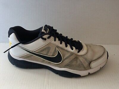 best sneakers 0395b 0970c Nike Dual Fusion TR III Mens 11.5 Med 512109-101 Running Shoes White Black  Blue