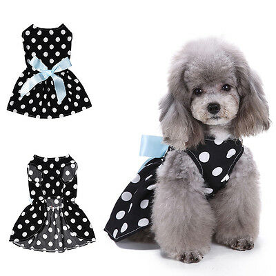 FJ- EG_ Pet Summer Vest Dress Dog Princess Tutu Dress Apparel Puppy Cat Clothes