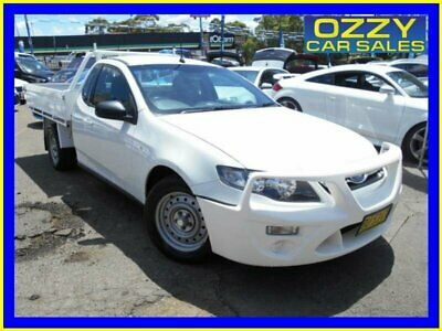 2013 Ford Falcon FG MK2 White Manual 6sp M Cab Chassis
