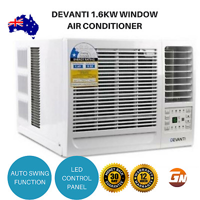 Devanti 1.6kW Window Air Conditioner Cooler Wall Box Refrigerated