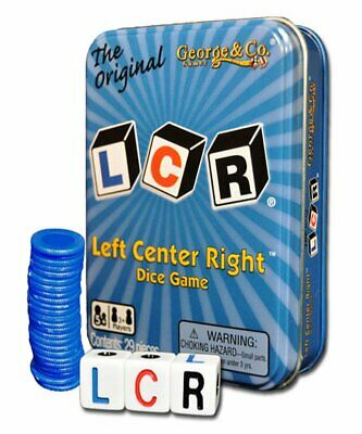 Best Offer LCR Left Center Right™ Fun Fast Paced Dice Game Toy Tin With 24 Chips