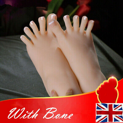 One Left Or Right Lifelike Silicone Feet With Bone Female Legs    Display Model