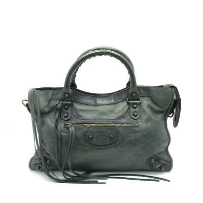 4bb317ebb195 AUTH GIVENCHY STARGATE Bambi Shopper Tote Bag Black Calfskin Leather ...