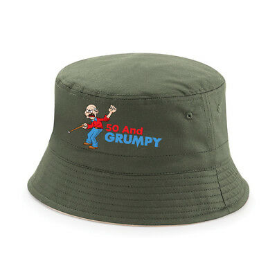 50th Birthday Gift 1968 Present Idea For Men Dad Male Him 50 Grumpy Bucket Hat