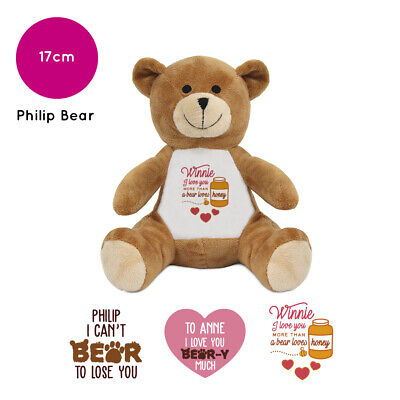Personalised Philip Name Teddy Bear Pun Humour Valentines Day Gifts For Him Her