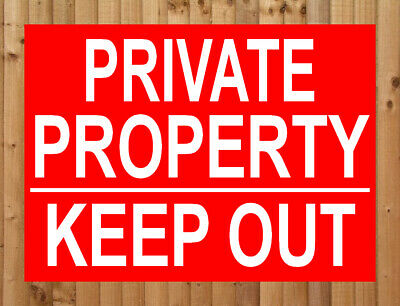 PRIVATE PROPERTY KEEP OUT Metal SIGN NOTICE ~ no trespassing dumping land road