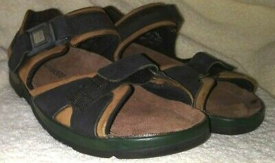 8411e20f4468 MEPHISTO SHARK SANDAL Mens EU 46 US 12 or 13 Brown Black Leather EXCELLENT