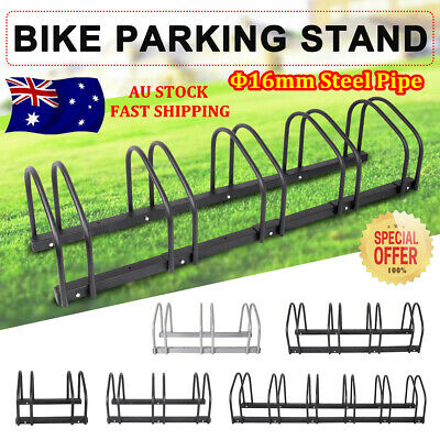New 1–6 Bike Parking Rack Steel Storage Stand Floor Wall Mounted Bicycle Cycling