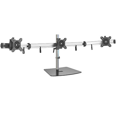 "Eono Essentials Free-Standing Triple Monitor Desk Mount for 15""-27"" Screens"