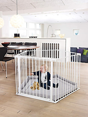 BabyDan Baby Playpen and Playmat (White)