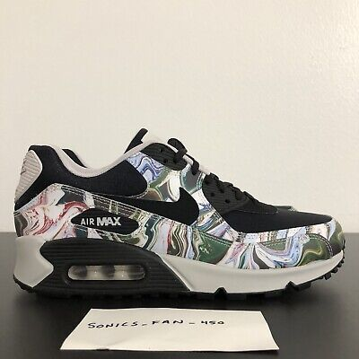 new product 79274 af6c4 Nike Women Air Max 90 Marble Black Black Vast Grey AO1521 001 Size 6.5