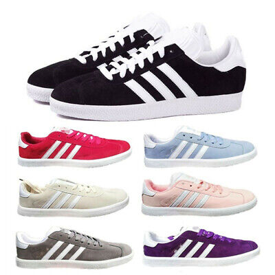 Womens Mens Outdoor Sneakers Sports Running Trainer Casual Stripe Shoes Size UK