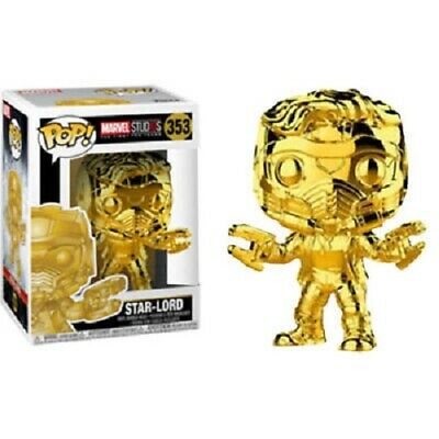 GUARDIANS OF THE GALAXY Figurine STAR LORD GOLD CHROME EXCLUSIVE N°353 FUNKO POP